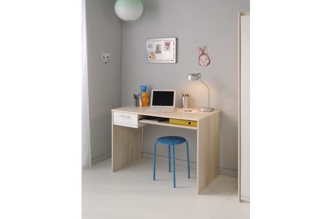 bureau pour chambre enfant acacia clair charles design sur. Black Bedroom Furniture Sets. Home Design Ideas