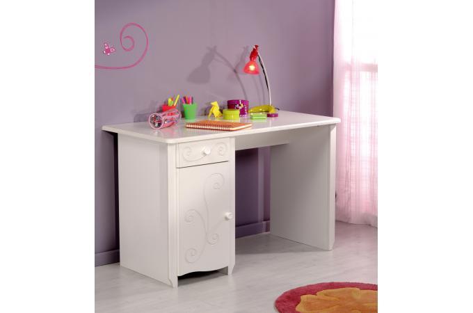 Bureau Pour Chambre Enfant Blanc Laqué ASTRID design sur SoFactory