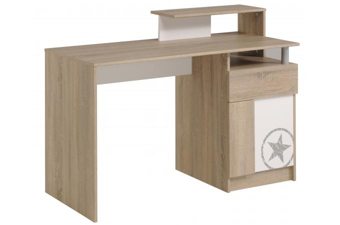 bureau etoile pour chambre enfant imitation ch ne brut. Black Bedroom Furniture Sets. Home Design Ideas