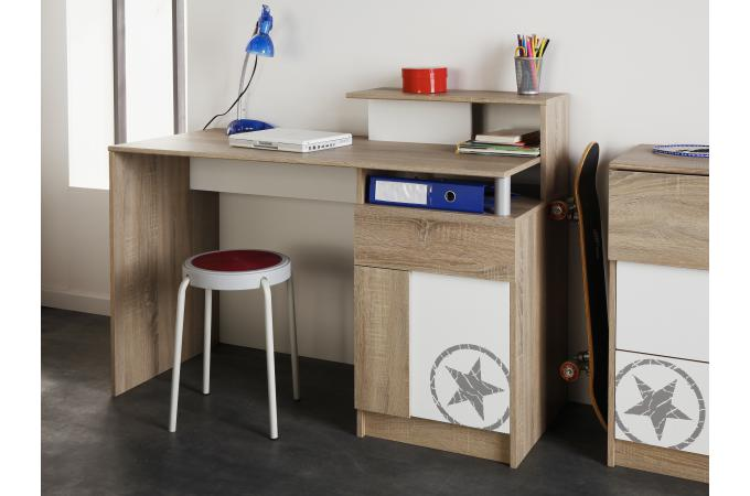 Bureau etoile pour chambre enfant imitation ch ne brut beat design pas cher sur sofactory - Etoile lumineuse pour chambre ...