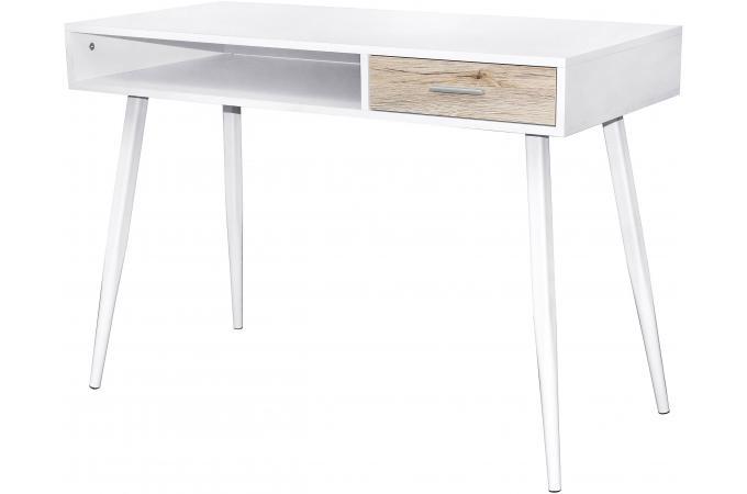 Bureau scandinave 1 tiroir blanc henrik design sur sofactory - Bureau scandinave pas cher ...