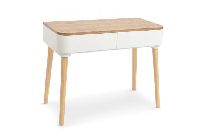 Bureau scandinave bois blanc celilo design sur sofactory