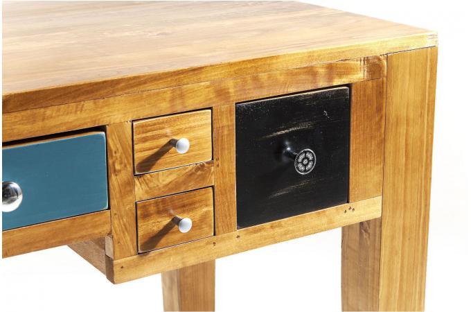 Bureau style industrie en bois multicolore pauline design sur sofactory