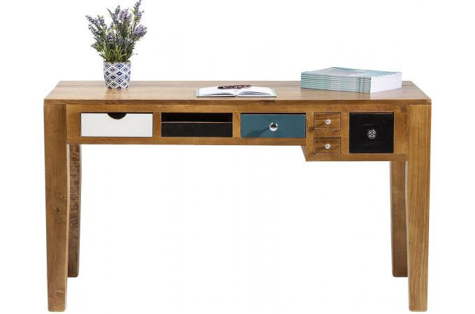 bureau style industrie en bois multicolore pauline design sur sofactory. Black Bedroom Furniture Sets. Home Design Ideas