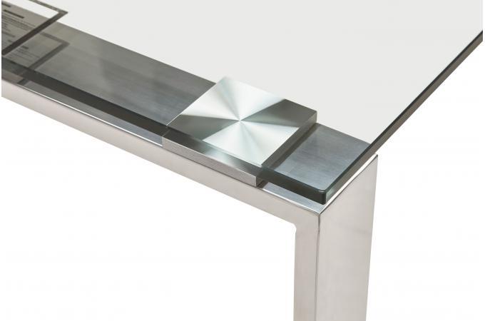 Bureau verre m tal 80x160 volt design sur sofactory - Bureau design verre metal ...