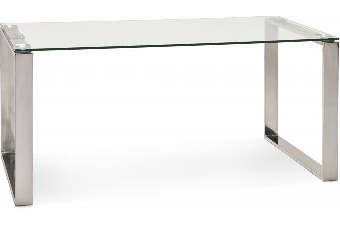 Bureau Verre Métal 80x160 Volt Design Sur Sofactory
