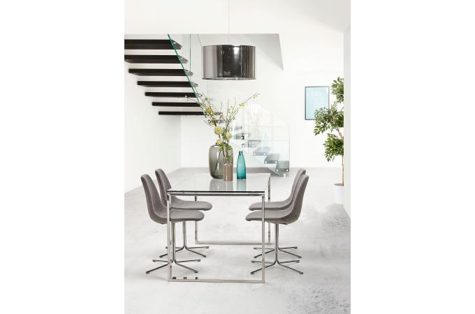 Bureau verre métal volt design sur sofactory