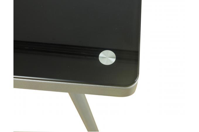 Bureau verre noir yacha design sur sofactory