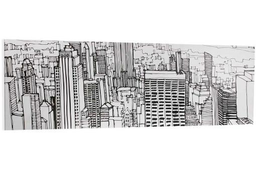 Toile longue croquis NY SKYVIEW