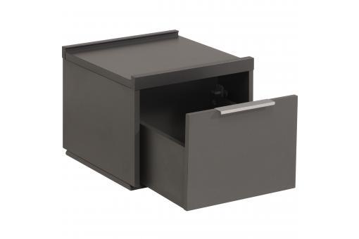 caisson de bureau carr tiroir gris fonc tarihn design sur sofactory. Black Bedroom Furniture Sets. Home Design Ideas