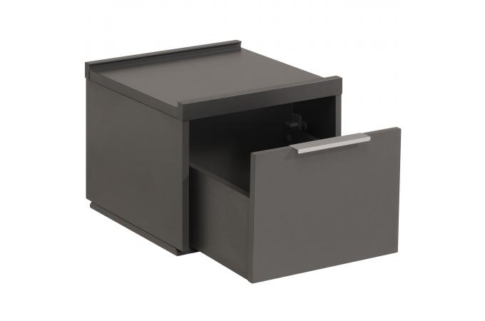 caisson de bureau carr tiroir gris fonc tarihn design sur sofactory. Black Bedroom Furniture Sets. Home Design Ideas