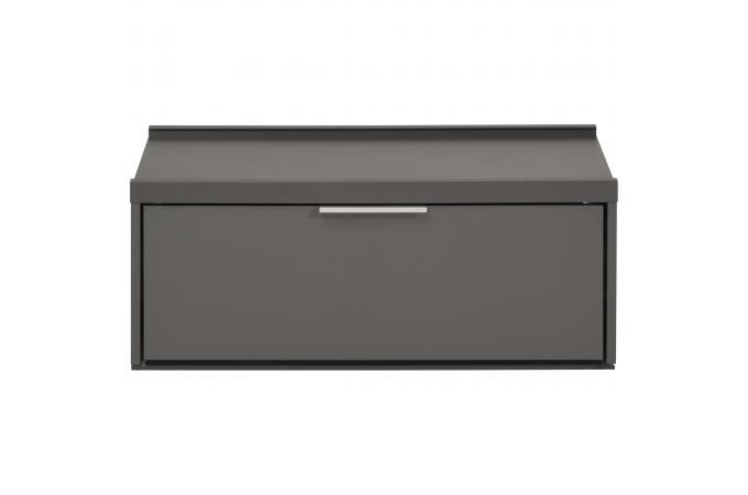 Caisson de bureau rectangulaire tiroir gris foncé tarihn design