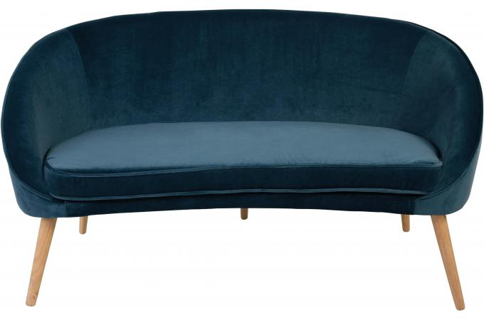 canap 2 places en velours bleu fonc velvita design sur sofactory. Black Bedroom Furniture Sets. Home Design Ideas