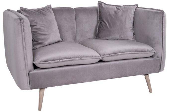 Canapé 2 places en velours gris CANNES design sur SoFactory 7985b1167a84