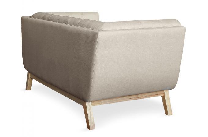 canap 2 places scandinave tissu beige roela design sur. Black Bedroom Furniture Sets. Home Design Ideas