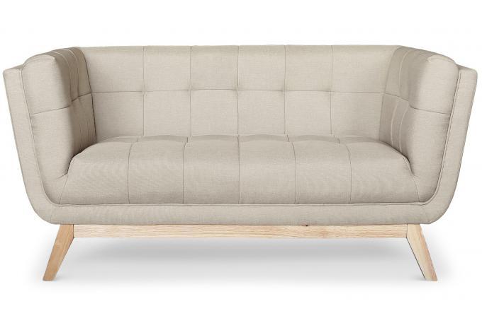 canap 2 places scandinave tissu beige roela design sur sofactory. Black Bedroom Furniture Sets. Home Design Ideas