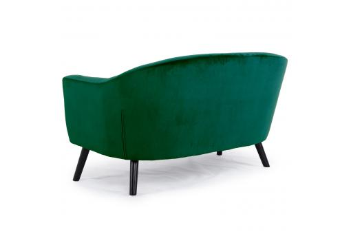 Canapé 2 Places Scandinave Velours Vert ANTONIO ME269649-0000