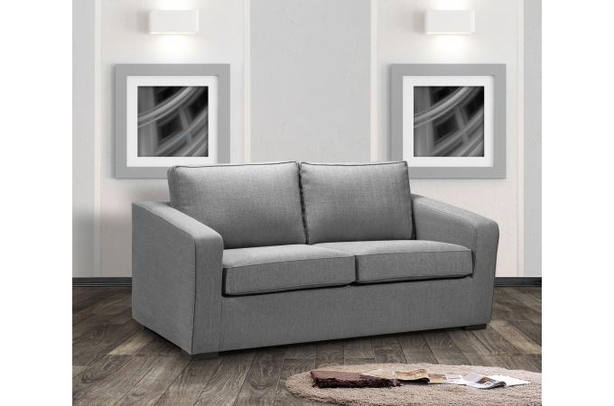 Canapé 2 Places Tissu Gris Tana Design Sur Sofactory