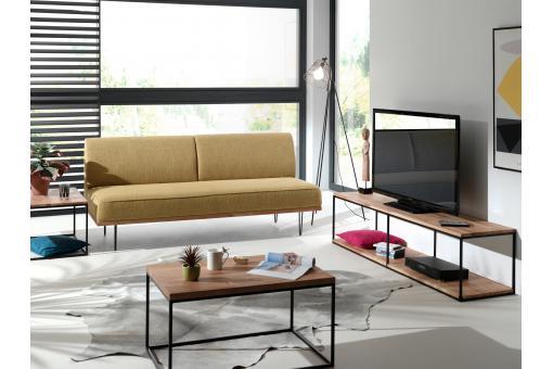 canap 2 places jaune rufus design sur sofactory. Black Bedroom Furniture Sets. Home Design Ideas
