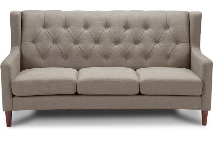 canap 3 places taupe martial design sur sofactory. Black Bedroom Furniture Sets. Home Design Ideas