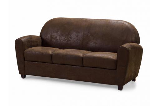 canap club 3 places marron vieilli patricia design sur. Black Bedroom Furniture Sets. Home Design Ideas