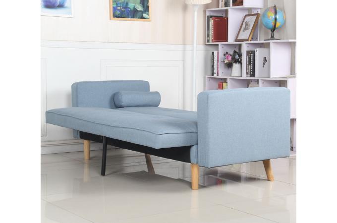 Canapé Convertible Scandinave Tissu Bleu Clair KOLI design sur SoFactory