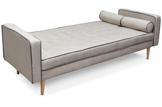 canap convertible scandinave 3 places beige liser gris. Black Bedroom Furniture Sets. Home Design Ideas