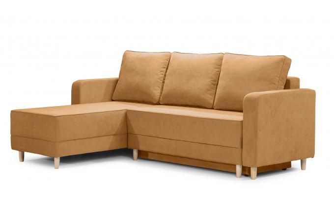 canap d 39 angle convertible 3pl tissu jaune slice design sur sofactory. Black Bedroom Furniture Sets. Home Design Ideas
