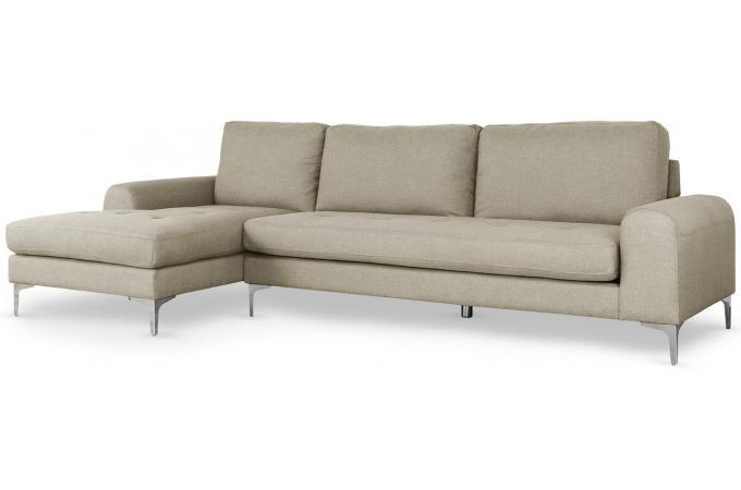 canap d 39 angle droit tissu beige albury design sur sofactory. Black Bedroom Furniture Sets. Home Design Ideas