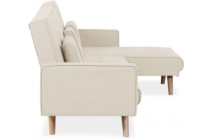 Scandinave D'angle Sofactory Design Sur Canapé Berry Convertible Beige vmnN80w