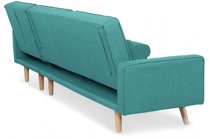 canap d 39 angle scandinave convertible bleu vert berry design sur sofactory. Black Bedroom Furniture Sets. Home Design Ideas