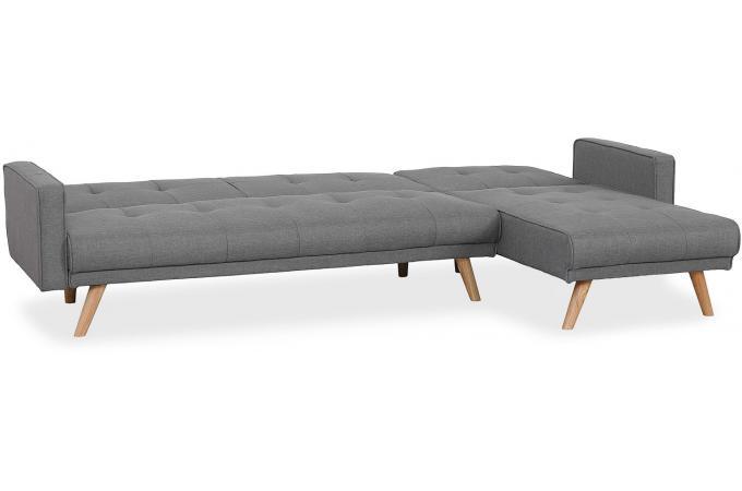 Canape D Angle Scandinave Convertible Gris Clair Berry Design Sur