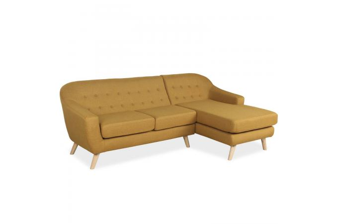 canap d 39 angle scandinave tissu jaune moutarde daila design sur sofactory. Black Bedroom Furniture Sets. Home Design Ideas