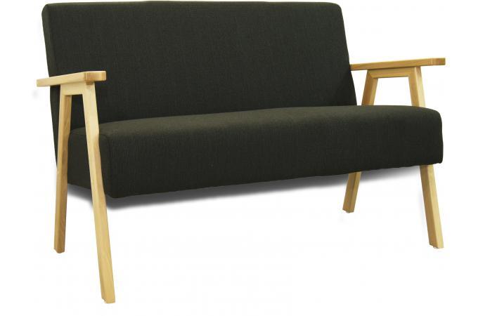 canap noir structure bois amak design sur sofactory. Black Bedroom Furniture Sets. Home Design Ideas