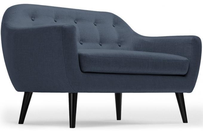 canapé scandinave 2 places tissu bleu antonio design sur sofactory