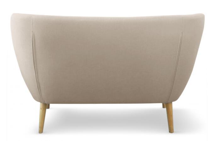 canap scandinave 2 places tissu beige lydum design sur sofactory. Black Bedroom Furniture Sets. Home Design Ideas