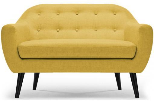 canap scandinave 2 places tissu jaune antonio design sur sofactory. Black Bedroom Furniture Sets. Home Design Ideas