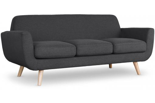 Canapé Scandinave 3 Places Tissu Anthracite TRELL SoFactory
