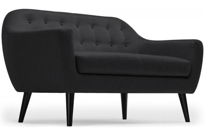 Canapé Scandinave 3 Places Tissu Noir Antonio Design Sur Sofactory