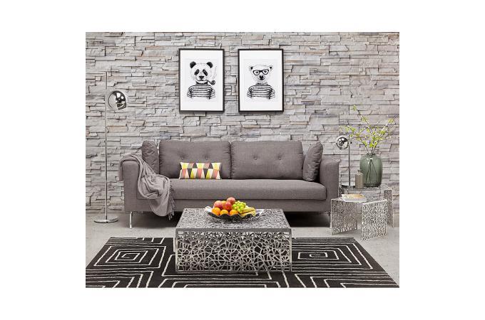 Canapé Moderne 3 Personnes En Tissu Gris Groots Design Sur Sofactory