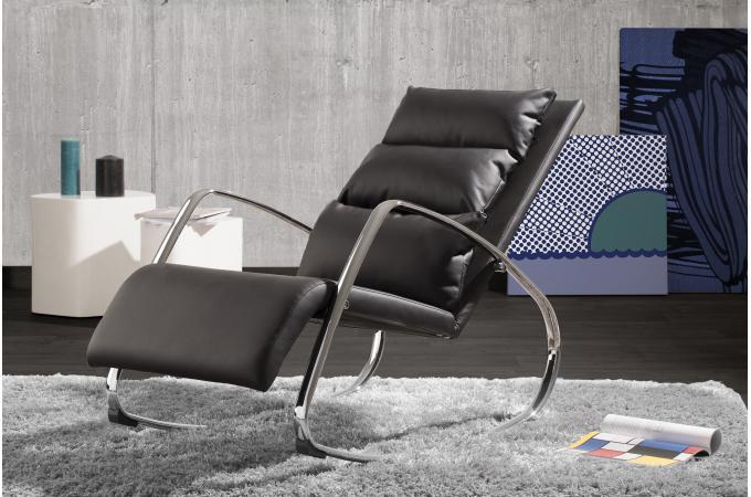chaise bascule design noir olvi design sur sofactory. Black Bedroom Furniture Sets. Home Design Ideas