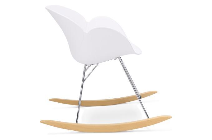 Chaise Bascule En Plastique Blanc REXTON