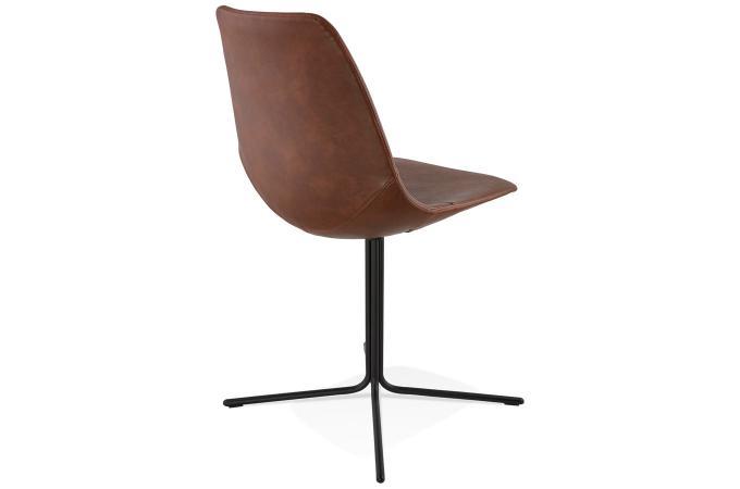 Chaise avec coque marron myriam design sur sofactory for Chaise tendance 2018