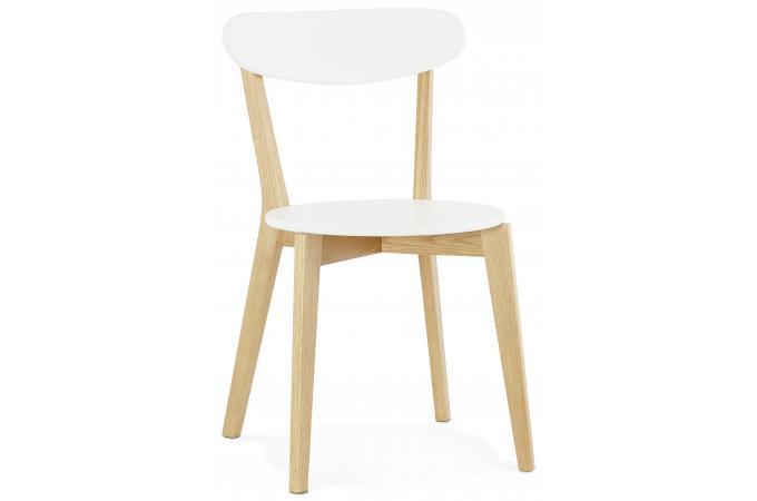 Chaise scandinave blanche 45x52x80 cm SITCA design sur SoFactory
