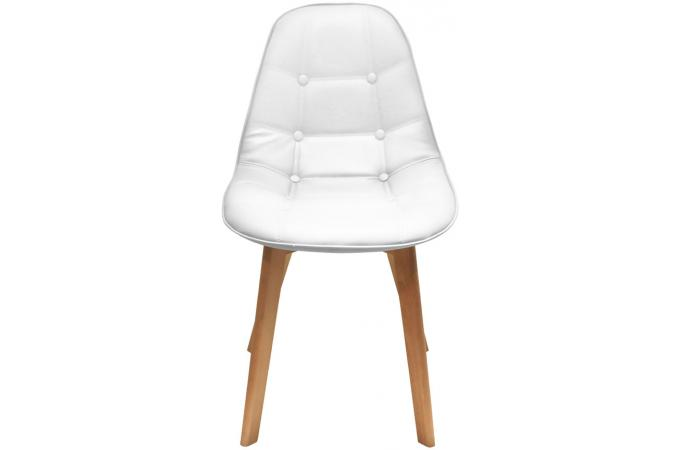 Chaise Capitonne Blanche AYSE
