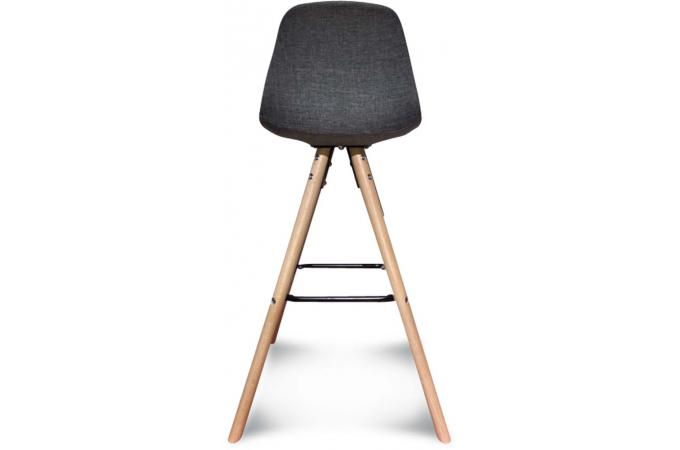 Tabouret De Bar Scandinave En Tissu Gris Umailo Design Sur Sofactory