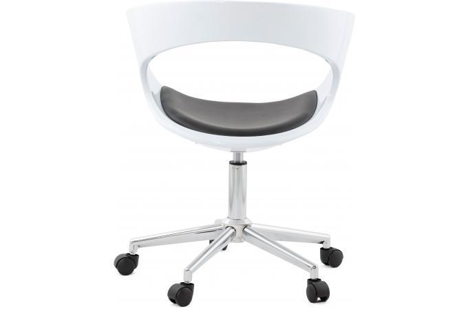 chaise de bureau blanche et noire pivotante aussi after. Black Bedroom Furniture Sets. Home Design Ideas
