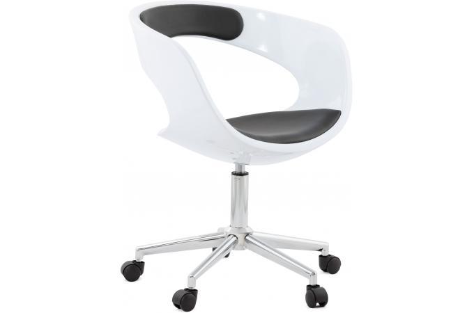 Chaise de bureau blanche et noire pivotante aussi after design sur