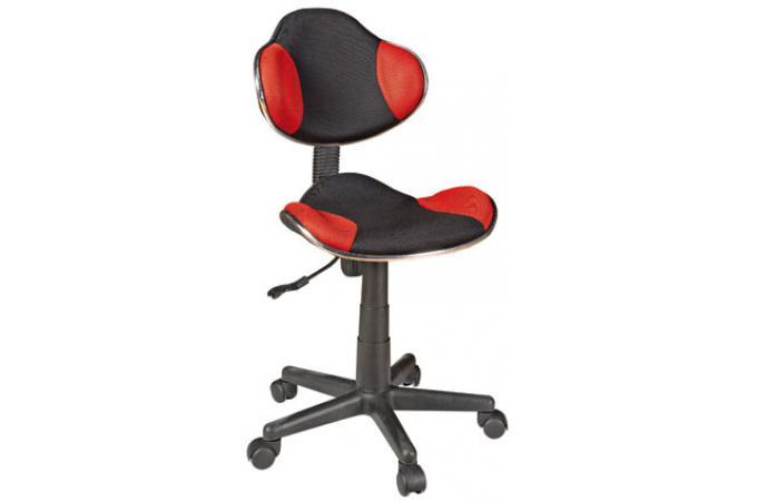 Chaise de bureau noir rouge anna design pas cher sur sofactory - Chaise de bureau rouge ...
