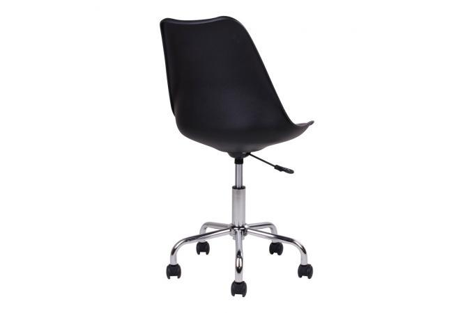 Chaise de bureau noire malena design sur sofactory